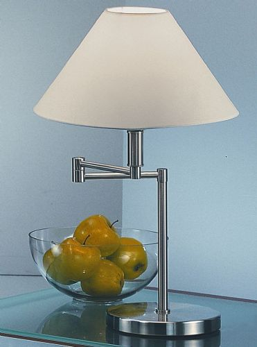 Franklite TL707 Satin Nickel Table Lamp (Class 2 Double Insulated)